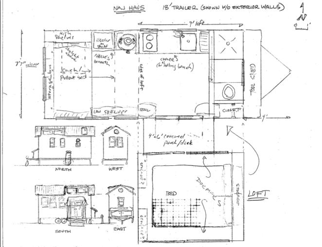 18 ft Naj Haus floorplan