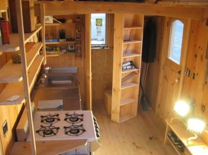 Gold Thread Tiny House kitchen