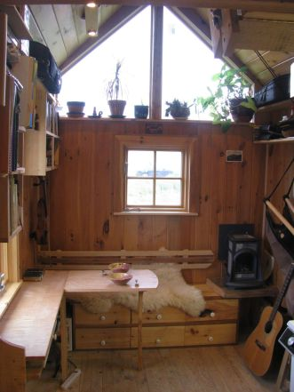 Gold Thread Tiny House living room