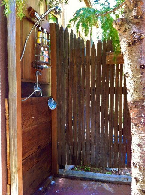 Colin's outdoor shower