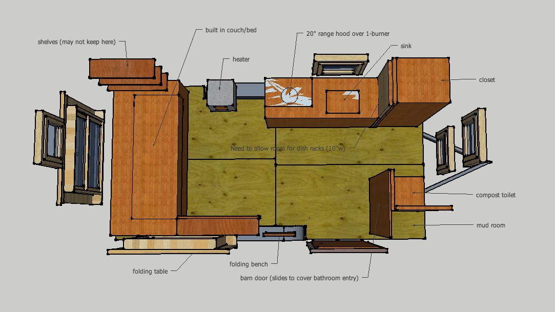 Designing a tiny house in sketchup tutorials resources for Haus plan
