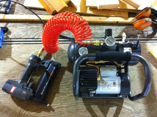 nail gun and compressor