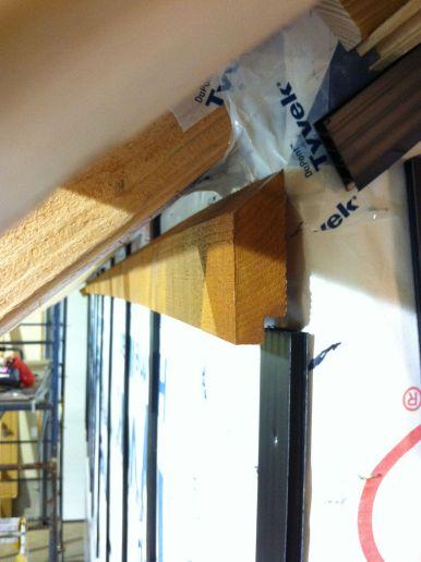 rainscreen trim installed end view