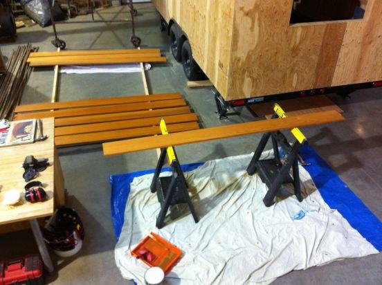 staining cedar fascia