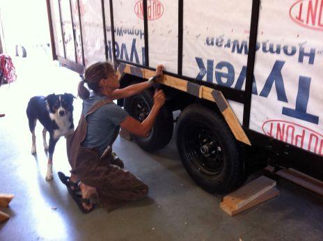 dee mocking up wheelwell trim