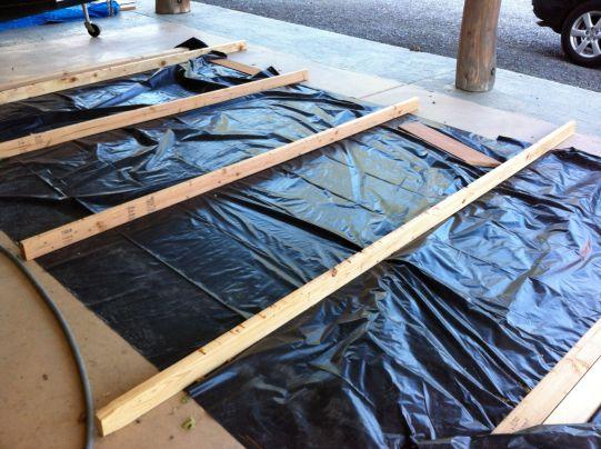 drying racks and visqueen
