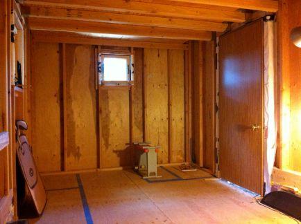 interior with temp door