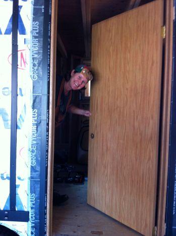 me with installed temp door