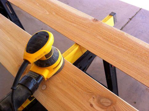 sanding siding