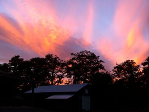 sunset fireworks