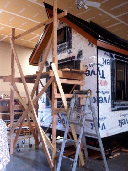 wooden scaffolding