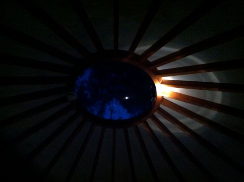 yurt oculus at night