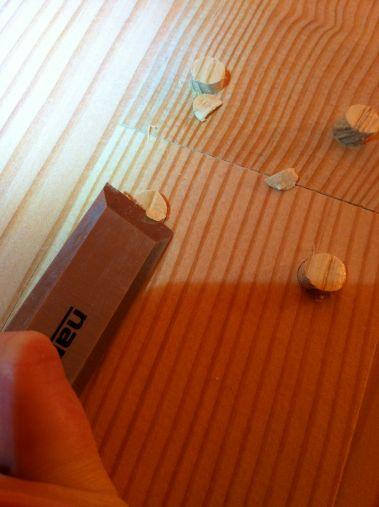 chiseling plugs flat