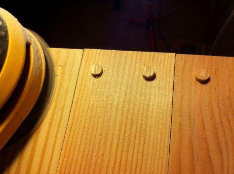 sanding plugs flat