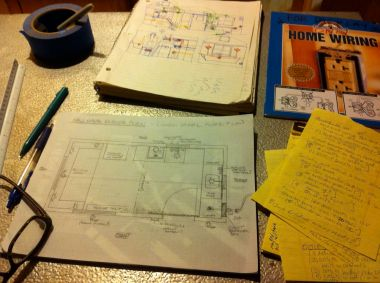 Starting to diagram out my lighting plan and designing the circuits.