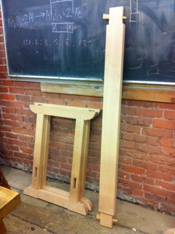 I took a week-long intensive class to make a work bench, learning how to do mortise and tenon joins, with and without wedges.