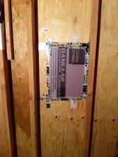 Rigid foam board installed.