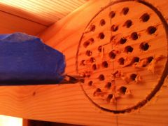 I then randomly drilled a bunch of hole to the same depth.