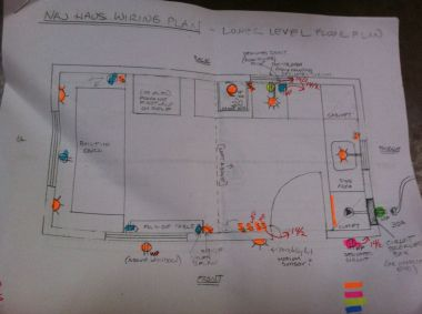 wiring floor plan view